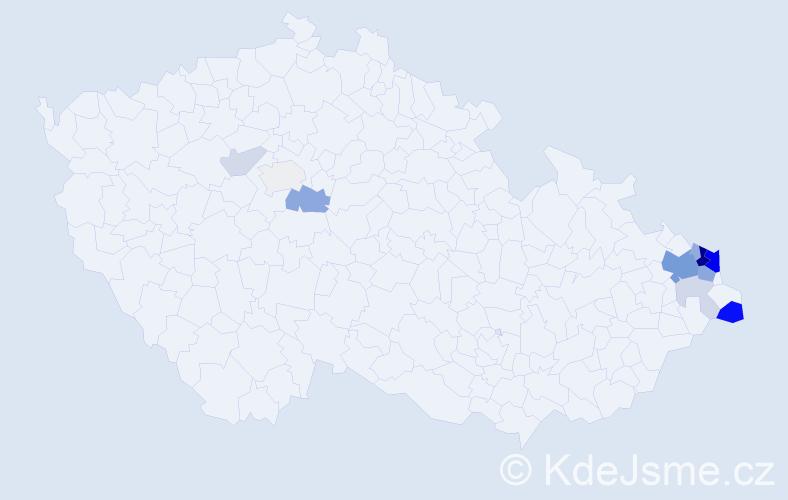Příjmení: 'Gavlovská', počet výskytů 41 v celé ČR