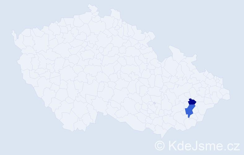 Příjmení: 'Behrens', počet výskytů 4 v celé ČR