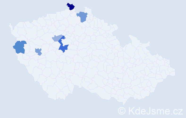 Příjmení: 'Balkovský', počet výskytů 11 v celé ČR