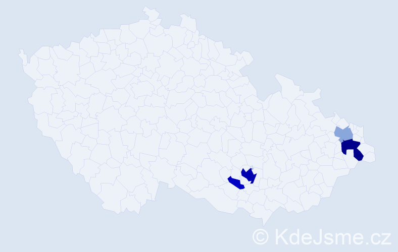 Příjmení: 'Dannhoferová', počet výskytů 17 v celé ČR