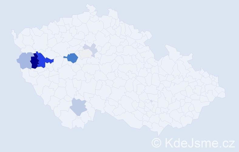 Příjmení: 'Čampula', počet výskytů 19 v celé ČR