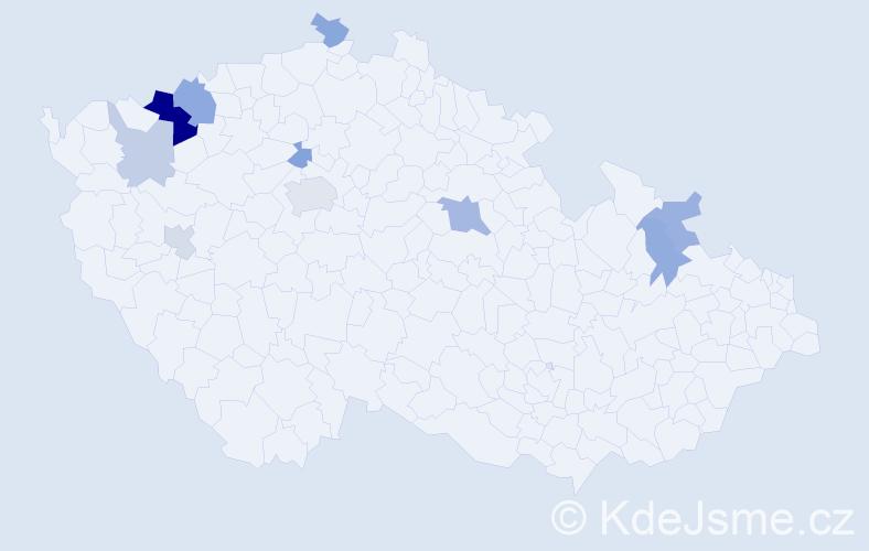 Příjmení: 'Enzmannová', počet výskytů 19 v celé ČR