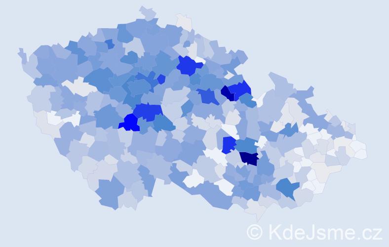 Příjmení: 'Hlaváčková', počet výskytů 3650 v celé ČR