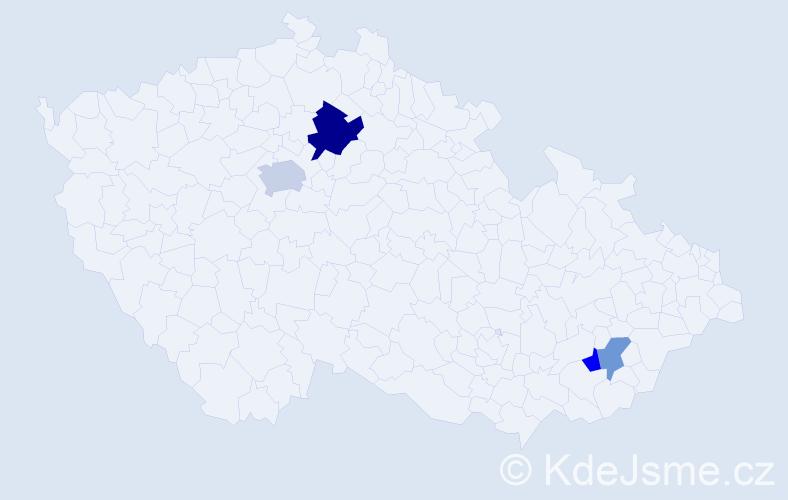 Příjmení: 'Graas', počet výskytů 7 v celé ČR