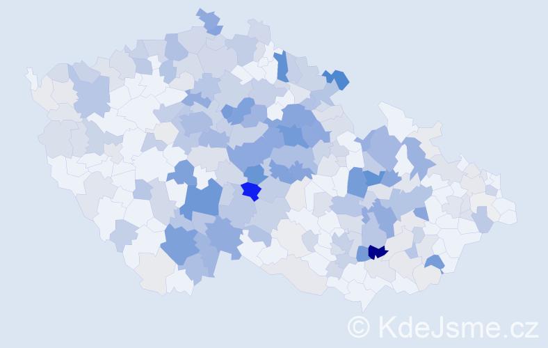 Příjmení: 'Hanousková', počet výskytů 922 v celé ČR