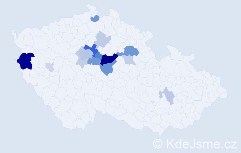 Příjmení: 'Ditrych', počet výskytů 41 v celé ČR