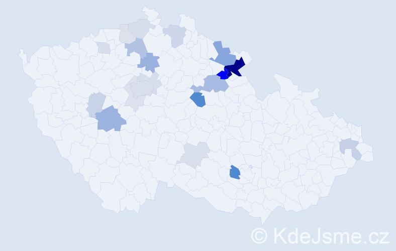 Příjmení: 'Kejdanová', počet výskytů 60 v celé ČR