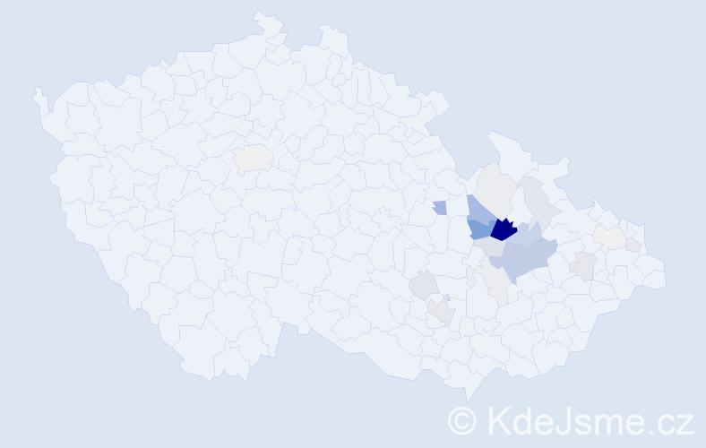 Příjmení: 'Lolková', počet výskytů 64 v celé ČR