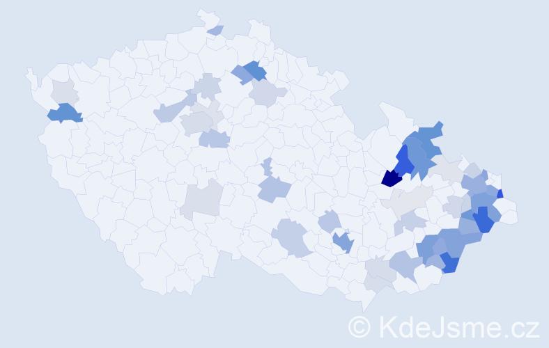 Příjmení: 'Butorová', počet výskytů 141 v celé ČR