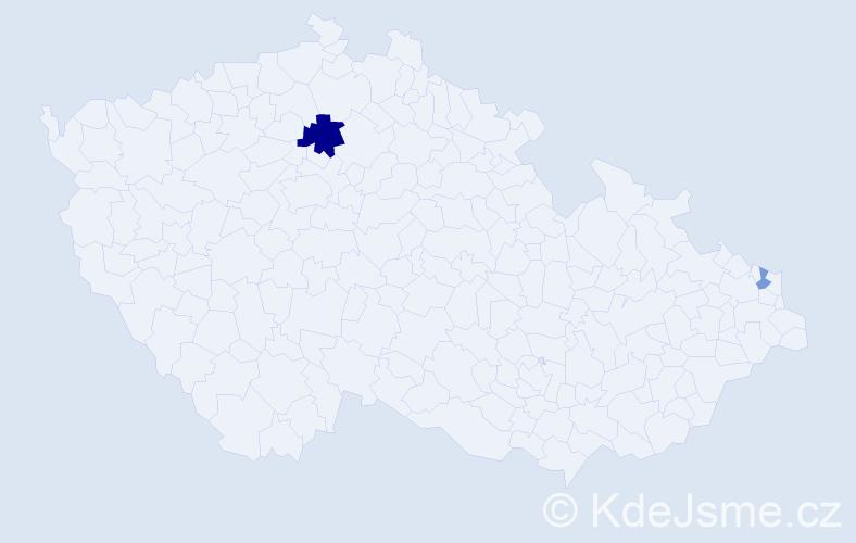 Příjmení: 'Basnerová', počet výskytů 4 v celé ČR
