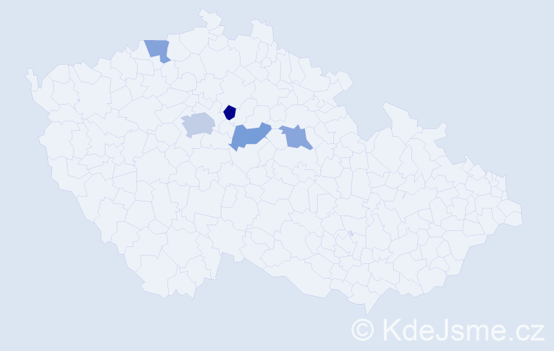 Příjmení: 'Birko', počet výskytů 7 v celé ČR