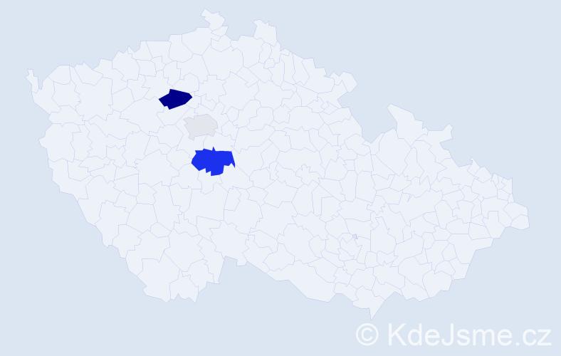 Příjmení: 'Fietko', počet výskytů 5 v celé ČR