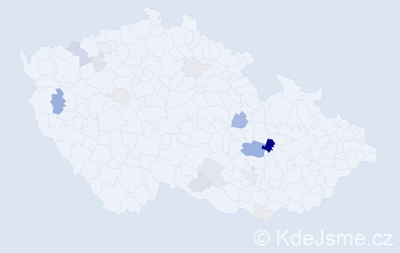 Příjmení: 'Eyer', počet výskytů 42 v celé ČR