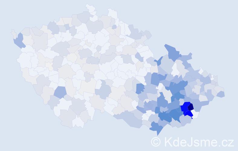 Příjmení: 'Bednaříková', počet výskytů 1332 v celé ČR