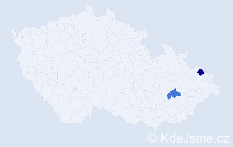 Příjmení: 'Hodorovičová', počet výskytů 4 v celé ČR