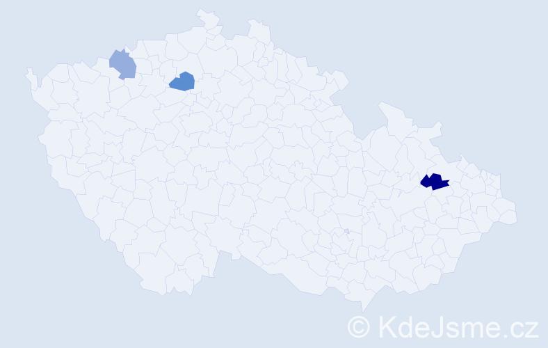 Příjmení: 'Chrapovičová', počet výskytů 3 v celé ČR
