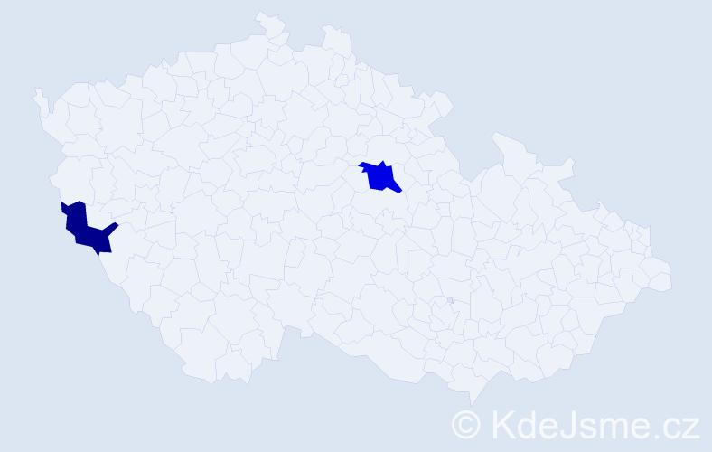 Příjmení: 'Ľahký', počet výskytů 3 v celé ČR