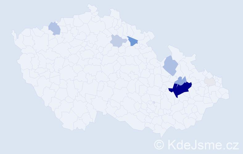 Příjmení: 'Arbeit', počet výskytů 33 v celé ČR