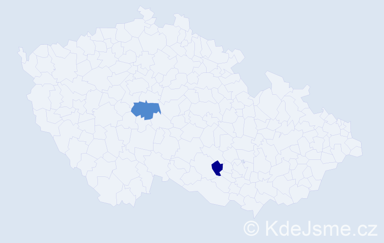 Příjmení: 'Belovický', počet výskytů 9 v celé ČR