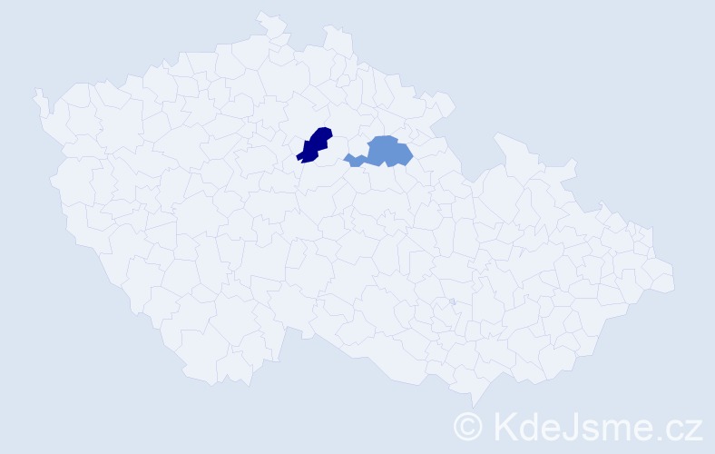 Příjmení: 'Grga', počet výskytů 2 v celé ČR