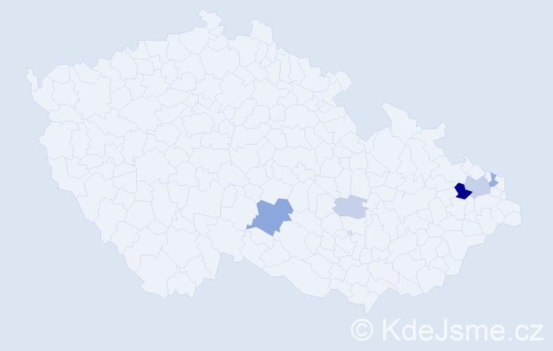 Příjmení: 'Gořula', počet výskytů 17 v celé ČR