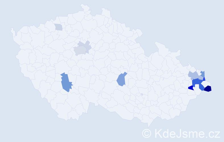 Příjmení: 'Gemrot', počet výskytů 44 v celé ČR