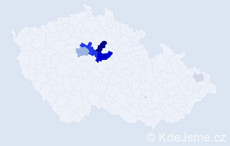 Příjmení: 'Braňka', počet výskytů 23 v celé ČR
