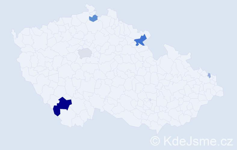 Příjmení: 'Karpf', počet výskytů 20 v celé ČR