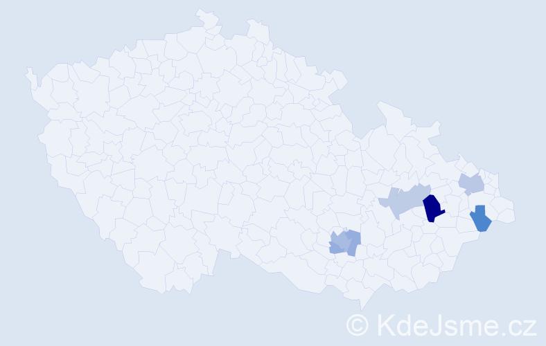 Příjmení: 'Enenkl', počet výskytů 11 v celé ČR