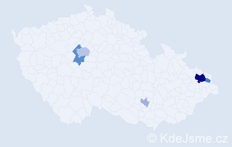 Příjmení: 'Geffert', počet výskytů 10 v celé ČR