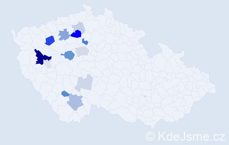 Příjmení: 'Eisenhamer', počet výskytů 41 v celé ČR