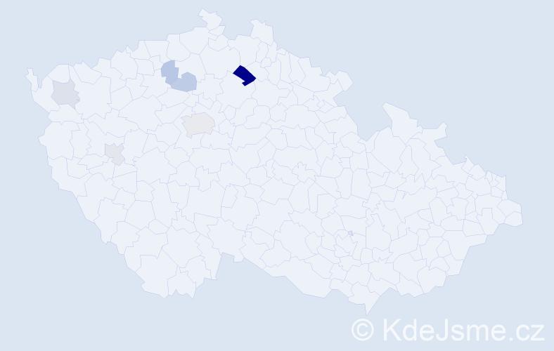 Příjmení: 'Fídlerová', počet výskytů 13 v celé ČR