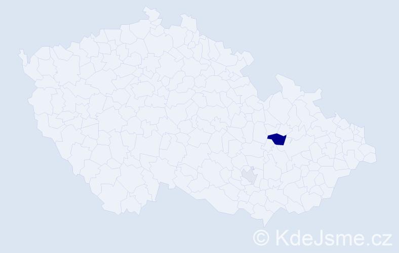Příjmení: 'Gyurka', počet výskytů 4 v celé ČR