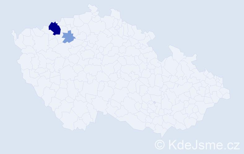 Příjmení: 'Fejferová', počet výskytů 7 v celé ČR
