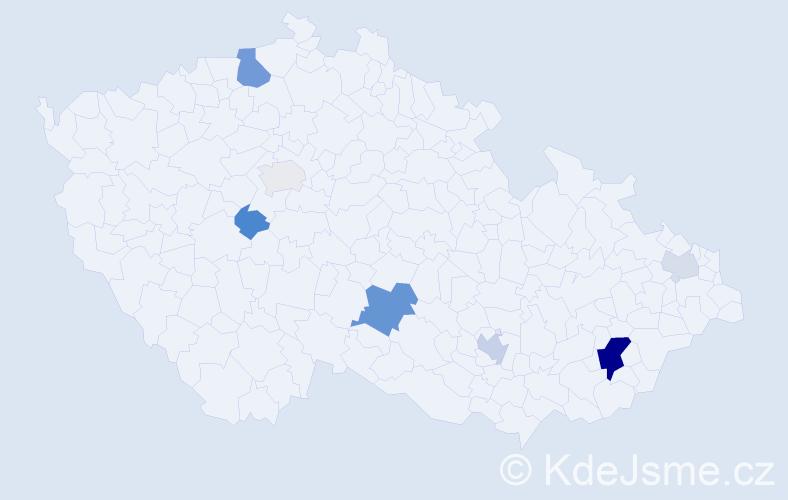 Příjmení: 'Landtová', počet výskytů 19 v celé ČR