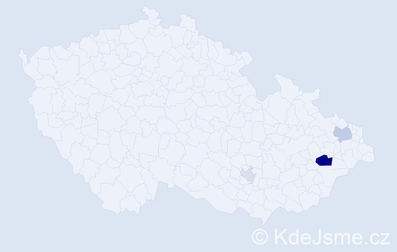 Příjmení: 'Ertingerová', počet výskytů 7 v celé ČR
