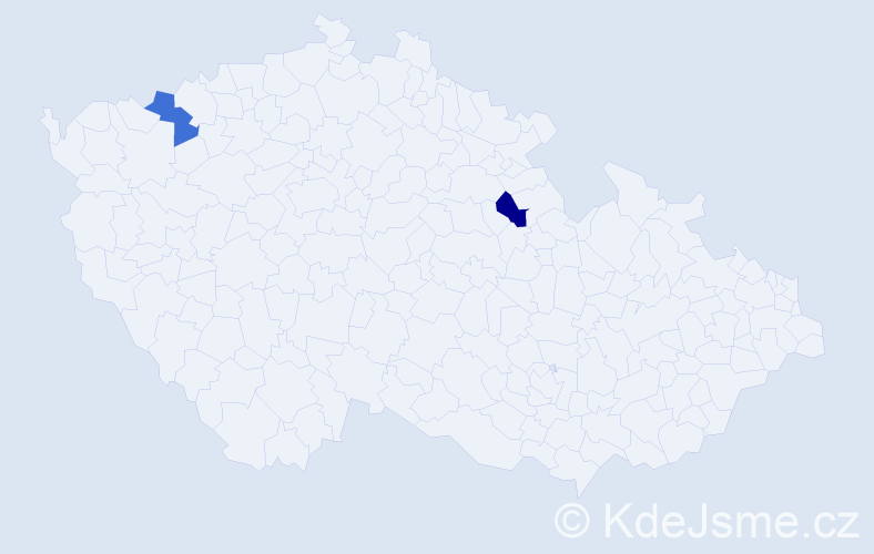 Příjmení: 'Jovnašová', počet výskytů 8 v celé ČR