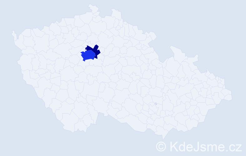 Příjmení: 'Bouzid', počet výskytů 7 v celé ČR