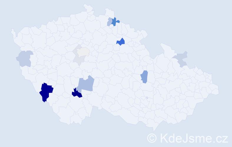 Příjmení: 'Daranská', počet výskytů 28 v celé ČR