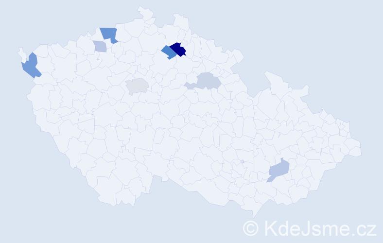 Příjmení: 'Erlerová', počet výskytů 17 v celé ČR