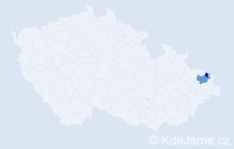 Příjmení: 'Chvostkěvič', počet výskytů 8 v celé ČR