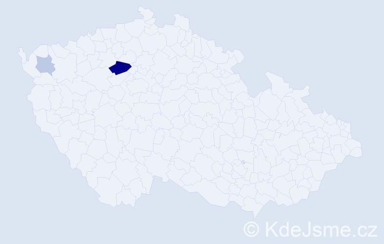 Příjmení: 'Chuderák', počet výskytů 6 v celé ČR