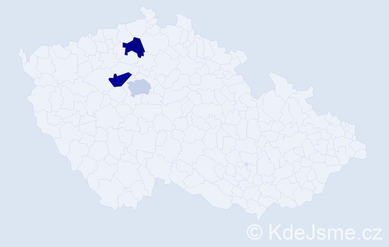 Příjmení: 'Binhacková', počet výskytů 7 v celé ČR