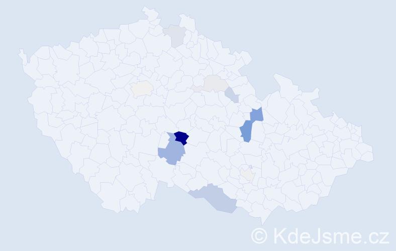 Příjmení: 'Dománek', počet výskytů 31 v celé ČR