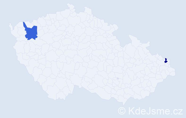 Příjmení: 'Jendrolová', počet výskytů 2 v celé ČR