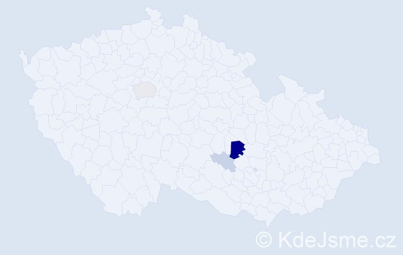 Příjmení: 'Děda', počet výskytů 12 v celé ČR
