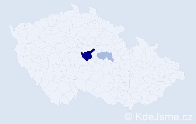 Příjmení: 'Egidy', počet výskytů 11 v celé ČR