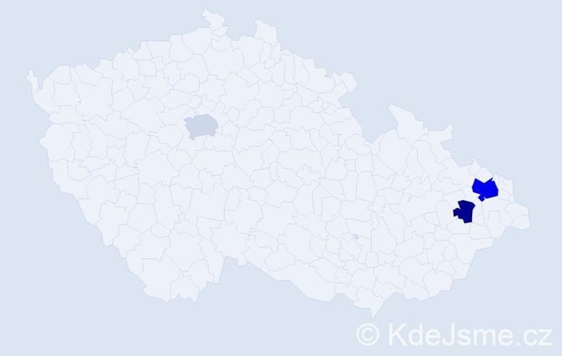 Příjmení: 'Česelský', počet výskytů 11 v celé ČR