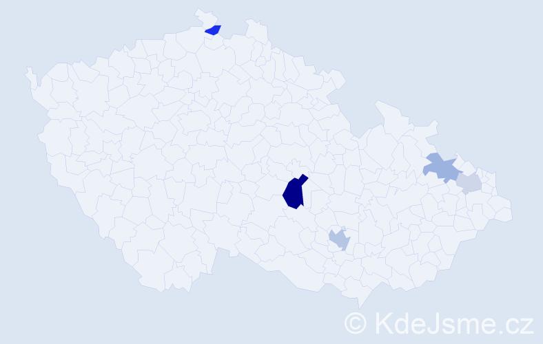 Příjmení: 'Izrael', počet výskytů 8 v celé ČR