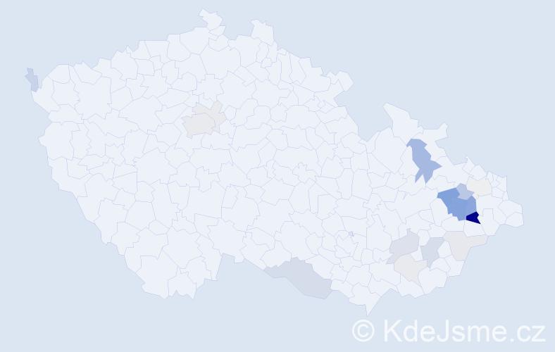 Příjmení: 'Genzer', počet výskytů 57 v celé ČR